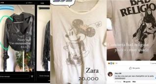 Algunas de las prendas publicadas en la cuenta para la venta