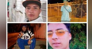 Jóvenes asesinados en San Rafael.