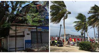 Fuertes vientos en Santa Marta.