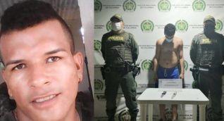 Jaider Andrés Castellar Miranda (víctima) y Miguel Armando Granados Iglesias (capturado).