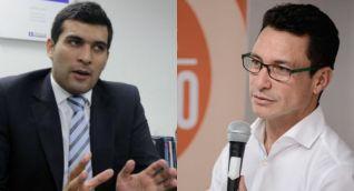 El abogado Julián Quintana y el gobernador Carlos Caicedo