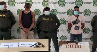 Capturados portando armas de fuego ilegales.