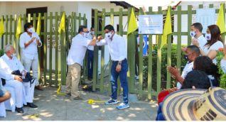 El evento de reapertura estuvo presidido por Pablo Vera Salazar y Luis Emilio Correa.