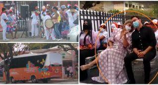 El gobernador Carlos Caicedo y la alcaldesa Virna Johnson violaron la norma del distanciamiento.
