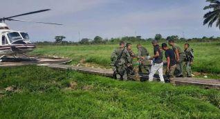 Militares venezolanos en la zona donde habrían sido secuestrados.