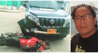 Alejandro Arias (derecha), involucrado en accidente de tránsito.
