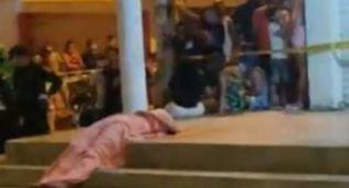 La víctima Elvis Alfredo Díaz Martínez murió en el lugar de los hechos.