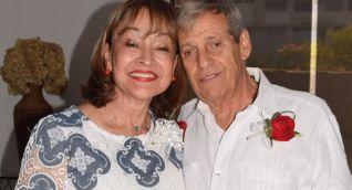 Juan Campo Alzamora, durante las bodas de oro con su esposa Mirella Morales de Campo.
