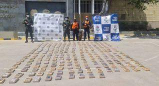 Droga incautada en Cartagena.