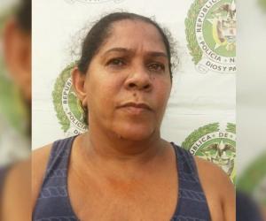 Astrid Elena Maigel Espeleta, capturada por la Policía.