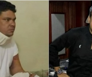 Martín Elías y su conductor, 'Armando Mando' Quintero|