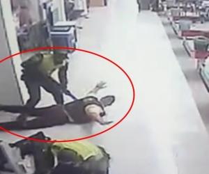 El robo quedó registrado en video.