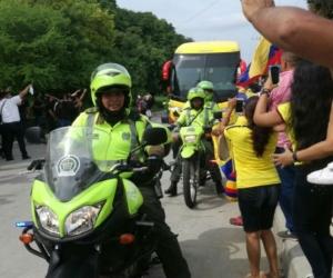 Hinchas despiden a la Selección Colombia en Barranquilla