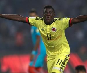 Juan Peñaloza, goleador de la selección Colombia sub-17.
