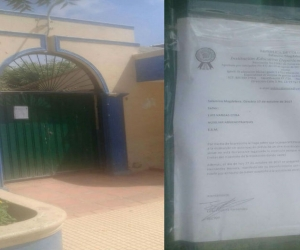Institución Departamental de Salamina-Carta de prohibición