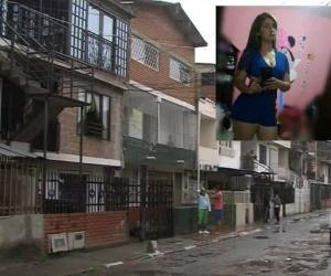 Paula Vera Arce, de 23 años, y la casa (reja negra) en donde ocurrieron los hechos
