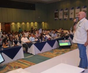 Domingo Chinea Barrera, durante su intervención
