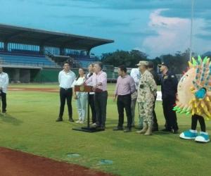 El presidente de la República, Juan Manuel Santos visitó los escenarios deportivos de los Bolivarianos.