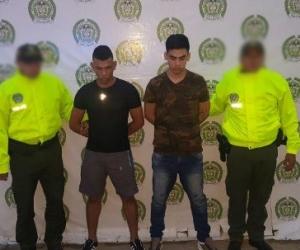 Los capturados Carlos Pacheco y José Avendaño Orozco.