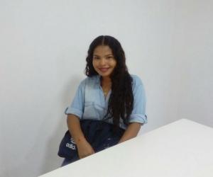 Ella es María José, quien ganó una beca otorgada por la Sociedad Portuaria.