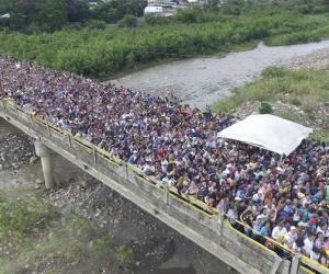Éxodo de venezolanos.