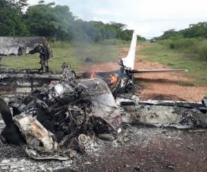 La Fuerza Aérea Colombiana, dio a conocer detalles de la aeronave que fue neutralizada en zona rural del municipio de Pivijay.