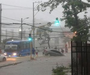 Lluvias en Santa Marta