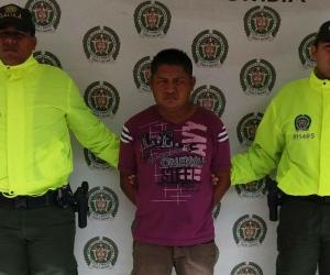 El capturado, Máximo Antonio Parra Paz.