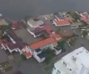 Panorámica de Cartagena inundada.