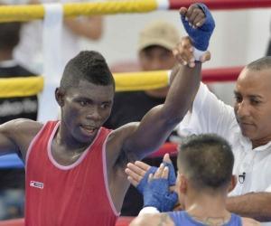 Yuberjen Martínez, campeón de Boxeo en los Bolivarianos en Santa Marta.