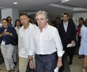 El Ministro de Transportes, Germán Cardona