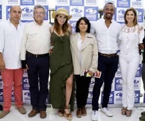 Los artistas y administrativos de Caracol encargados de presentar las novedades del canal para el 2018.