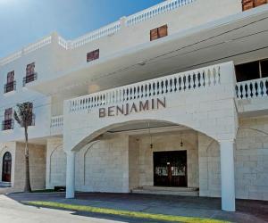 Fachada del Hotel Benjamín en México.