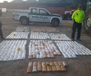 Droga encontrada en un parqueadero de Santa Marta.