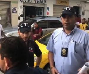 Rafael Martínez, al momento de ser capturado por la Fiscalía.