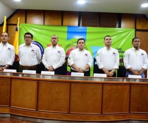 Decano y directores de programa de la Facultad de Ciencias Económicas y Empresariales.