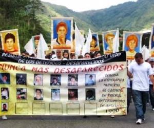 Manifestación por los desaparecidos de la vereda La Esperanza.