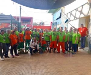 Jornada de limpieza en el Mercado Público.
