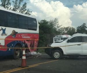 Minutos después de ocurrido el accidente.