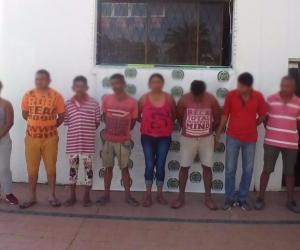 Banda delincuencial 'Los  Plumas', capturados en Plato, Magdalena.