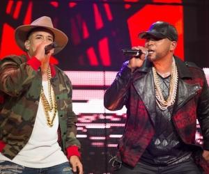 Los reguetoneros Daddy Yankee y Don Omar.