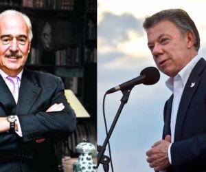 Andrés Pastrana Arango y Juan Manuel Santos.