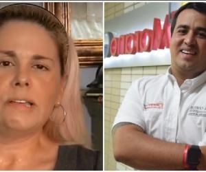 María del Pilar Espinoza (izq) señala a su propio hijo, Jorge Camilo Gnecco (der), de querer asesinarla.