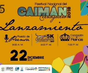 Imagen oficial del festival del Caimán Cienaguero.