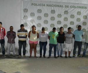 Los 15 capturados.