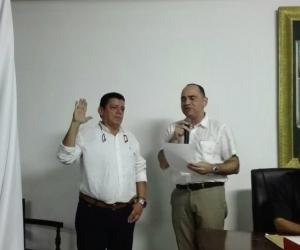 Darío Linero durante la toma de posesión de su cargo.