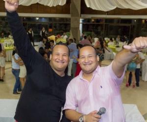 Juan y Franklin 'Los Mellos' Cañas durante su presentación en Los Trupillos.