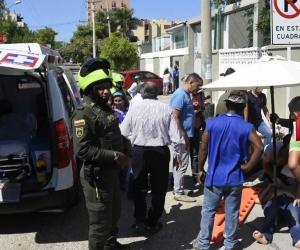 La mujer fue auxiliada por una ambulancia el día de los hechos.