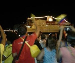 El busque Logos Hopes, en su llegada a Santa Marta.