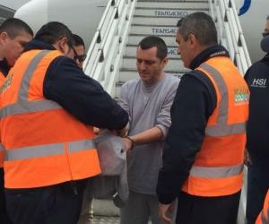 Alias HH a su llegada a Colombia.